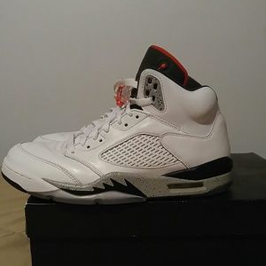 Air Jordan 5 Retro White Cement